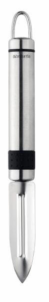 Нож для чистки Brabantia. 210969210969Нож для чистки Brabantia предназначен для обработки овощей. Нож выполнен из нержавеющей стали, имеет удобную ручку и его можно мыть в посудомоечной машине.Удобная ручка и качественная сталь лезвия делают такой нож хорошим инструментом для ежедневной работы на кухне. «Если хотите сэкономить,лучше купить один классный нож...Один небольшой, универсальный,которым можно делать буквально все.Еще один чуть побольше -резать хлеб, разбираться с мясом,разделывать курицу. Ну и маленькийнож, которым можно почистить овощи,снять цедру, что-то измельчить.»Характеристики: Материал: сталь. Размер: 22 см х 9 см х 3,5 см. Артикул: 210969. Гарантия производителя: 5 лет.