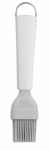 Кисть кондитерская Brabantia Essential, цвет: белый. 400384400384Гибкая термостойкая силиконовая кисть (макс. 280°C). Изделие гигиенично и удобно в очистке. Ручка из прочного пластика с петелькой для подвешивания из нержавеющей стали. Подходит для мытья в посудомоечной машине. Имеется сочетающийся по стилю настенный держатель (рейлинг).