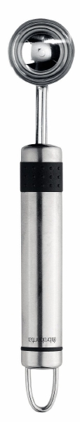 Нож для фигурной резки фруктов и овощей Brabantia Profile, цвет: стальной матовый. 211041211041Нож для фигурной резки из высококачественной закаленной стали. Может также использоваться для удаления сердцевины из томатов, огурцов, перца. Подходит для мытья в посудомоечной машине. Имеется сочетающийся по стилю настенный держатель (рейлинг). В комплект не входит.