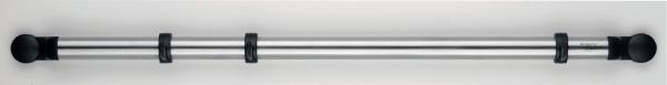 Держатель Brabantia Profile, настенный, цвет: стальной матовый. 214585214585Держатель легко крепится к стене – в комплект входит крепежная фурнитура и инструкция. Удобная система наращивания по мере увеличения вашей коллекции кухонных принадлежностей с помощью соединительных элементов. Труба изготовлена из нержавеющей стали. Держатель поставляется с 12 съемными крючками и соединительным элементом.
