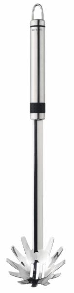 Ложка для спагетти Brabantia Profile, цвет: стальной матовый. 264849264849Идеально подходит для подачи любых макаронных изделий. Бесшовная конструкция – гигиеничность и удобство очистки. Долговечный и экологически безопасный материал – нержавеющая сталь. Подходит для мытья в посудомоечной машине. Имеется сочетающийся по стилю настенный держатель (рейлинг).