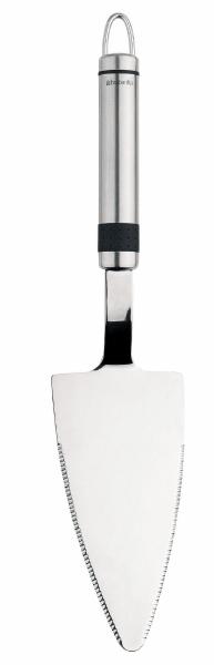 Лопатка для пирожного Brabantia. 385421385421Лопатка для пирожного Brabantia изготовлена из высококачественной стали. Широкая рабочая поверхность позволяет порционно раскладывать на тарелки торты, пирожные, кексы и другую выпечку. Ручка оснащена небольшой петелькой, за которую лопатку можно подвесить в любом удобном для вас месте. Лопатка для пирожного Brabantia займет достойное место среди аксессуаров на вашей кухне. Характеристики: Материал: сталь. Длина лопатки: 28 см. Размер рабочей поверхности: 6,5 см х 13,5 см. Артикул: 385421. Гарантия производителя: 5 лет.