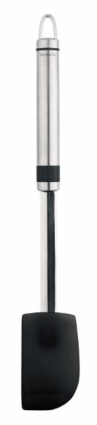 Лопатка для перемешивания Brabantia Profile, цвет: стальной матовый. 385520385520Лопатка идеально подходит для использования в сковородах и кастрюлях с антипригарным покрытием. Имеет длительный срок службы – высококачественный силиконовый пластик (макс. 280°C). Ручка из нержавеющей стали с петелькой для подвешивания. Бесшовная конструкция – гигиеничность и удобство очистки. Подходит для мытья в посудомоечной машине. Имеется сочетающийся по стилю настенный держатель (рейлинг). Продается отдельно.