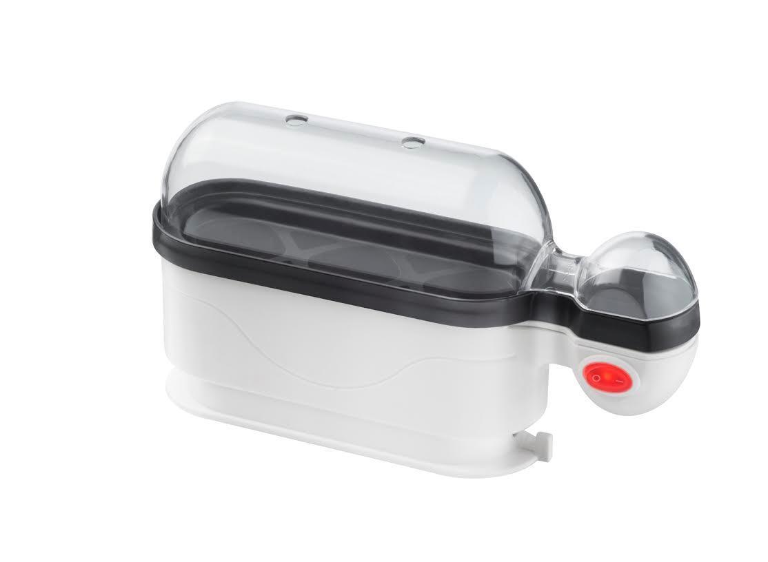 Steba EK 4 яйцеваркаEK 4Яйцеварка STEBA EK 4 - это компактное и удобное в пользовании устройство. Данный помощник позволит в считанные минуты сварить яйцаи тем самым облегчит кухонный быт.Модель отличается простым управлением, справиться с которым под силу даже ребенку. Яйца готовятся на пару, а не в воде. Такой способ приготовления положительно сказывается на вкусовых качествах продукта.
