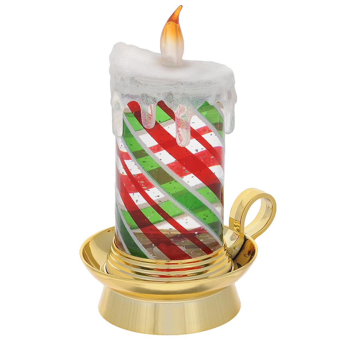 Фигурка декоративная Свеча водяная, с подсветкой. 77008 фигурка декоративная свеча водяная с подсветкой 77008