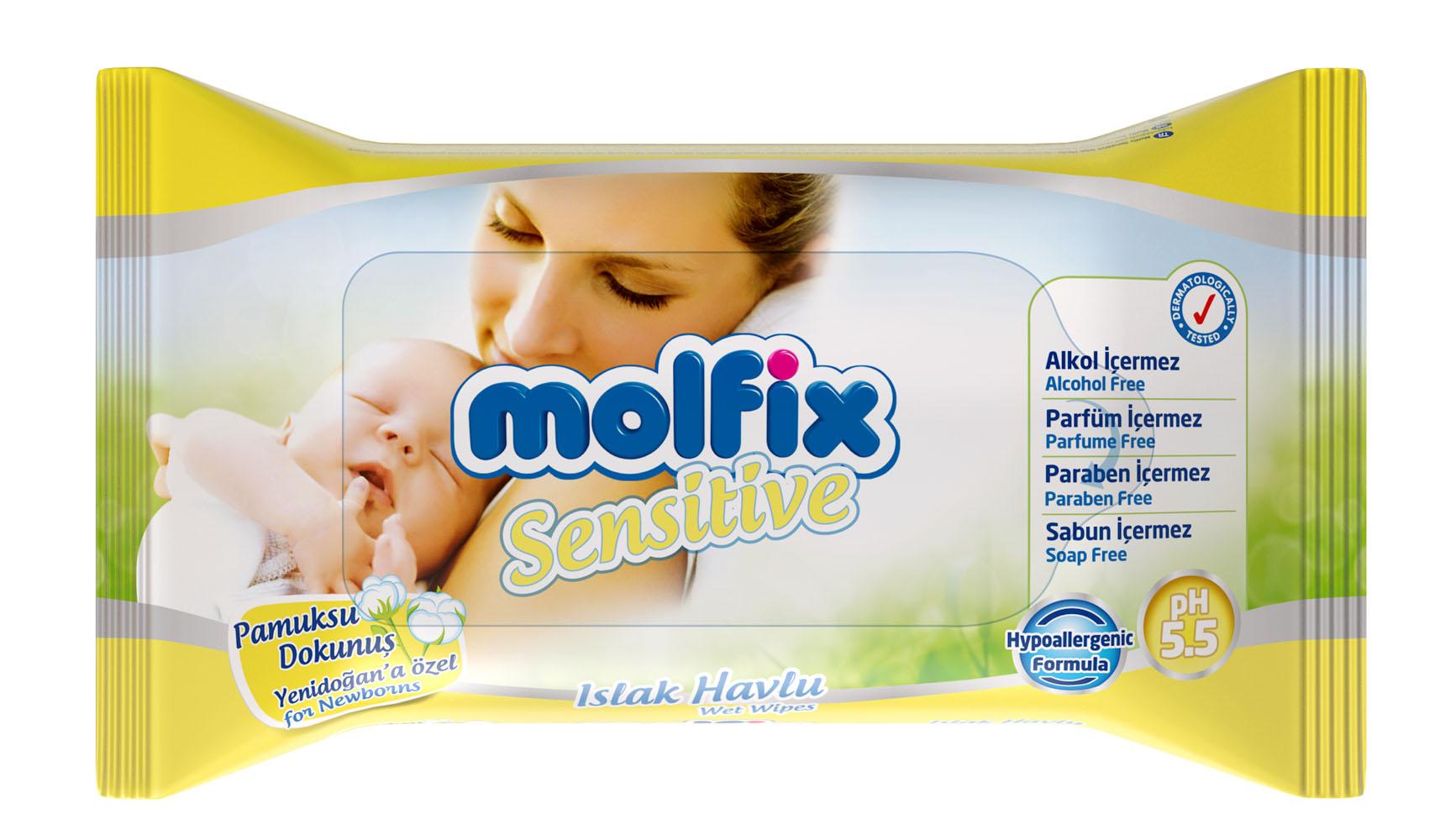 Molfix Влажные детские салфетки
