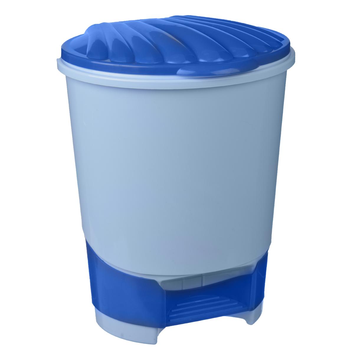 Ведро для мусора Альтернатива, с педалью, цвет: голубой, 10 лМ1380Ведро для мусора Альтернатива, выполненное из прочного пластика, обеспечит долгий срок службы и легкую чистку. Ведро поможет вам держать мелкий мусор в порядке и предотвратит распространение неприятного запаха. Откидная пластиковая крышка открывается и закрывается при помощи педали.