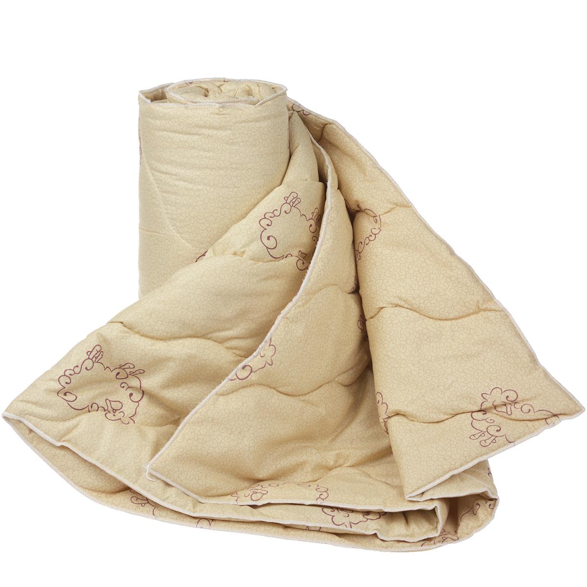 Одеяло Dargez Находка, наполнитель: овечья шерсть, цвет: бежевый, 172 х 200 см20(33)323Одеяло Dargez Находка подарит уютный и комфортный сон. Чехол одеяла выполнен из микрофибры и оформлен изображением овечек. Фигурная стежка надежно удерживает наполнитель внутри. Изделия с шерстяным наполнителем: - обладают лечебно-профилактическим эффектом, - гигроскопичны: обеспечивают комфортное сухое тепло, - обладают хорошей циркуляцией воздуха. Рекомендации по уходу: - Стирка запрещена. - Запрещается отбеливать, гладить, выжимать и сушить.- Химическая чистка любым растворителем, кроме трихлорэтилена. Материал чехла: микрофибра (100% полиэстер). Материал наполнителя: овечья шерсть. Плотность наполнителя: 200 г/м2. Размер одеяла: 172 см х 200 см.