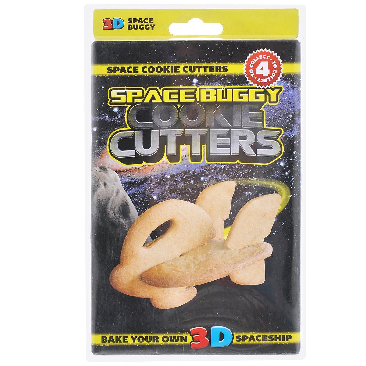 Форма для печенья 3D Suck UK Корабль, цвет: желтыйSK COOKIESPACE43D форма для печенья Suck UK Корабль, изготовленная из высококачественного и прочного пластика, состоит из пяти составных частей, которые позволяют собрать объемную фигуру в виде космического корабля. С такой формой легко и просто вырезать фигурное тесто для приготовления домашнего печенья.Форма для печенья Suck UK Корабль вдохновит вас и вашего ребенка на кулинарные шедевры.Можно мыть в посудомоечной машине. Размер самой большой составной части: 9 см х 8 см.Размер самой маленькой составной части: 4 см х 4 см.