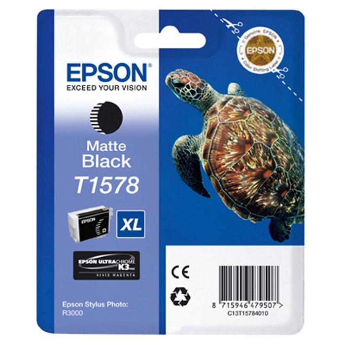 Epson T1578 XL (C13T15784010), Matte Black картридж для Stylus Photo R3000 - Расходные материалы