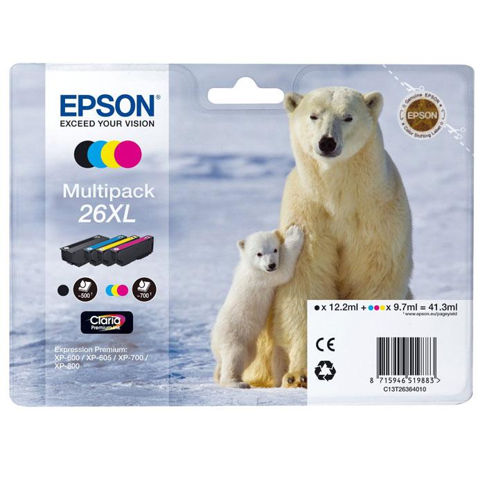 Epson T2636 Multipack 26XL (C13T26364010) комплект картриджей для XP600/7/8