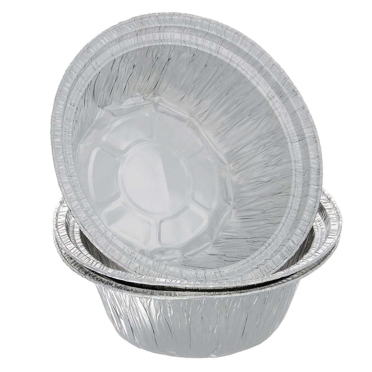 """Набор """"Home Queen"""", выполненный из алюминиевой фольги идеально подходит для кексов, пирогов. Форма обладает всеми свойствами обычной фольги для запекания: гигиеничная, легкая, прочная, теплопроводная.  Также формы можно использовать для запекания, для хранения и заморозки продуктов. Диаметр формы: 18,5 см.  Высота формы: 7 см. Количество форм: 3 шт."""