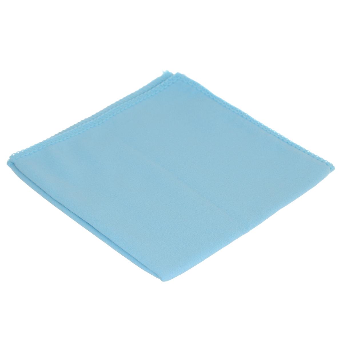 Салфетка для стекол, оптики и зеркал Home Queen, цвет: голубой, 30 х 30 см50306Салфетка Home Queen, изготовленная из микрофибры (искусственная замша), предназначена для очищения загрязнений на любых поверхностях (включая стекла, зеркала, оптику, мониторы). Изделие обладает высокой износоустойчивостью и рассчитано на многократное использование, легко моется в теплой воде с мягкими чистящими средствами. Супервпитывающая салфетка не оставляет разводов и ворсинок, удаляет большинство жирных и маслянистых загрязнений без использования химических средств. Размер салфетки: 30 х 30 см.