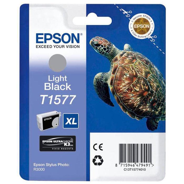 Epson T1577 XL (C13T15774010), Light Black картридж для Stylus Photo R3000 - Расходные материалы