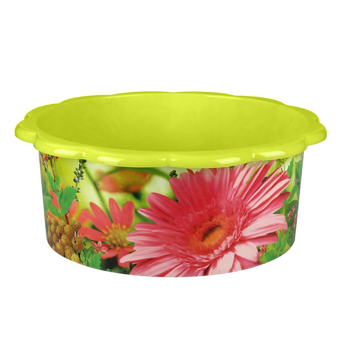 Таз Поэзия весны, цвет: салатовый, 20 лМ3106Таз Поэзия весны изготовлен из высококачественного пластика. Он выполнен в классическом круглом варианте. По бокам имеются удобные углубления, которые обеспечивают удобный захват. Таз предназначен для стирки и хранения разных вещей. Он пригодится в любом хозяйстве. Объем: 20 л.Диаметр (по верхнему краю): 46 см. Высота: 18 см.