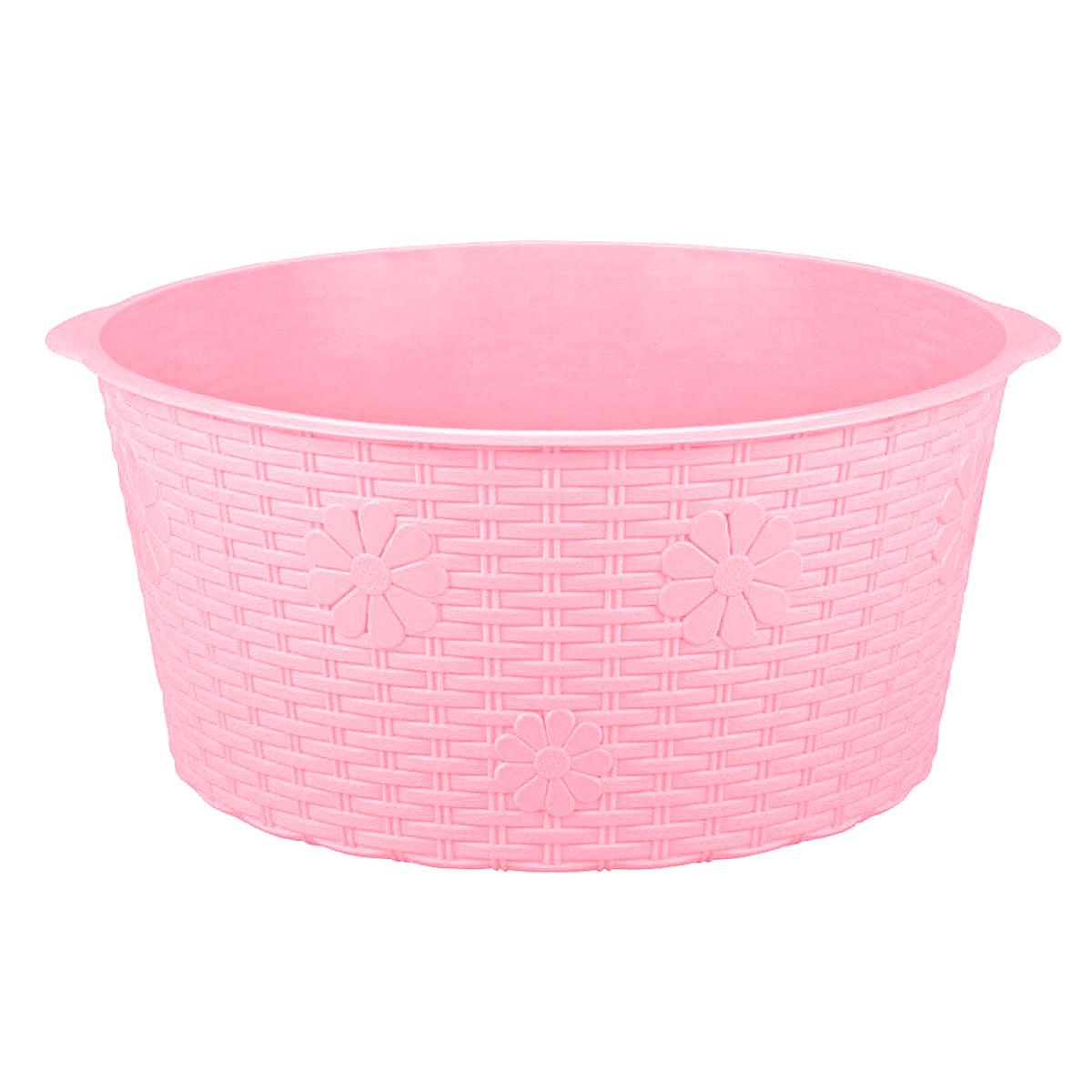 Таз Альтернатива Плетенка, цвет: розовый, 20 л таз азалия объем 10 л цвет зеленый 952965