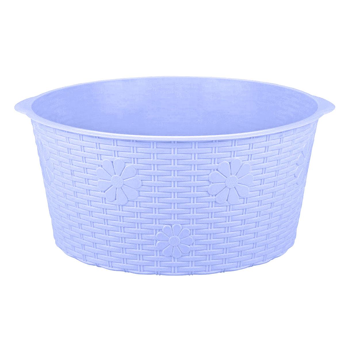 Таз Альтернатива Плетенка, цвет: сине-фиолетовый, 20 лМ2258Таз Альтернатива Плетенка изготовлен из высококачественного пластика. Он выполнен в классическом круглом варианте. Для удобного использования таз снабжен двумя ручками. Таз предназначен для стирки и хранения разных вещей. Он пригодится в любом хозяйстве. Объем: 20 л.Диаметр (по верхнему краю с учетом ручек): 45 см. Диаметр (по верхнему краю без учета ручек): 42 см. Высота: 20 см.