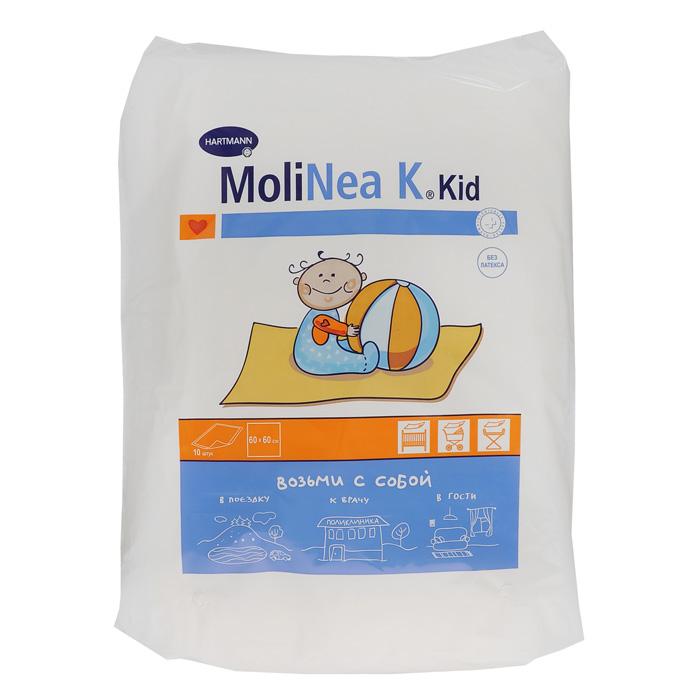 Hartmann Пеленки детские Мolinеа К, впитывающе, одноразовые, 60 х 60 см, 10 шт одноразовые детские пеленки каждый день