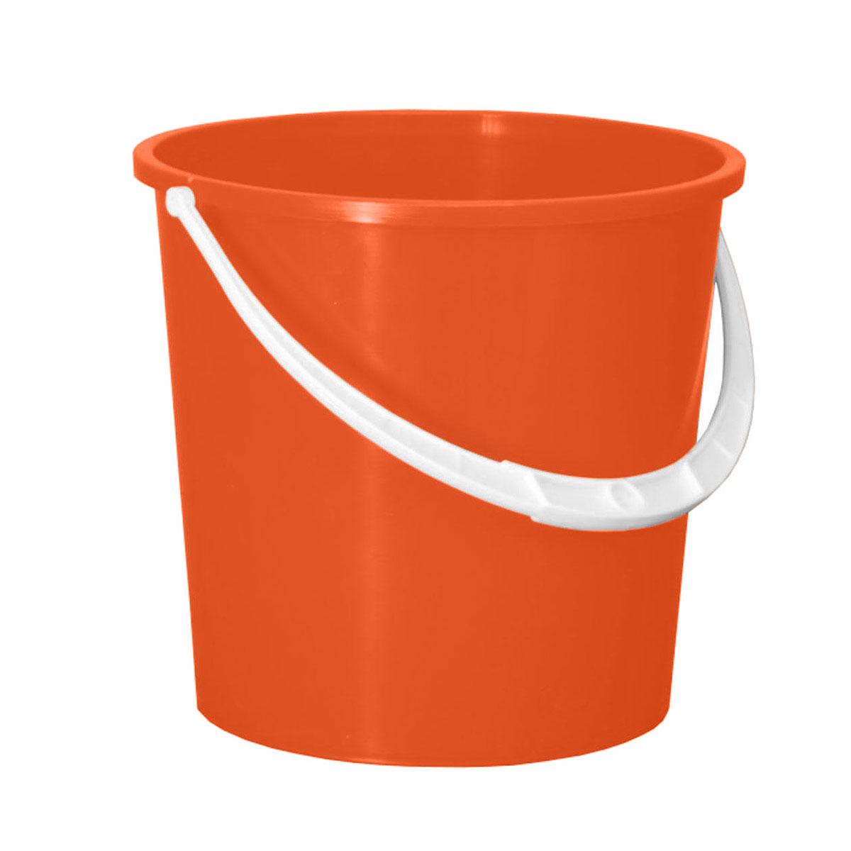 Ведро Альтернатива Крепыш, цвет: оранжевый, 5 лК340Ведро Альтернатива Крепыш изготовлено из высококачественного одноцветного пластика. Оно легче железного и не подвержено коррозии. Ведро оснащено удобной пластиковой ручкой. Такое ведро станет незаменимым помощником в хозяйстве. Размер: 22 см x 22 см x 20,5 см.