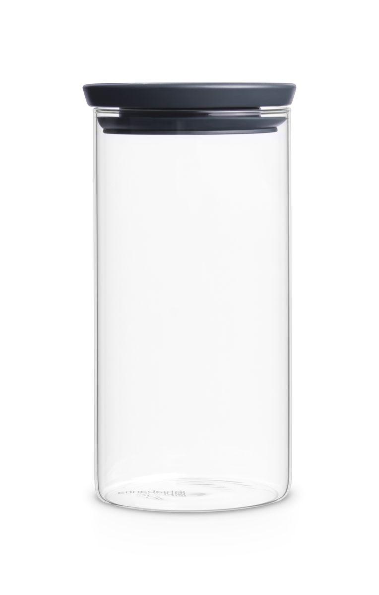 Банка для сыпучих продуктов Brabantia, 1,1 л. 298264298264Экономия места – модульная конструкция: банки составляются одна на другую.Продукты дольше сохраняют свежесть – герметичная крышка.Хорошо видно содержимое и его объем – прозрачное стекло.Легко моются – банки и крышки можно мыть в посудомоечной машине.