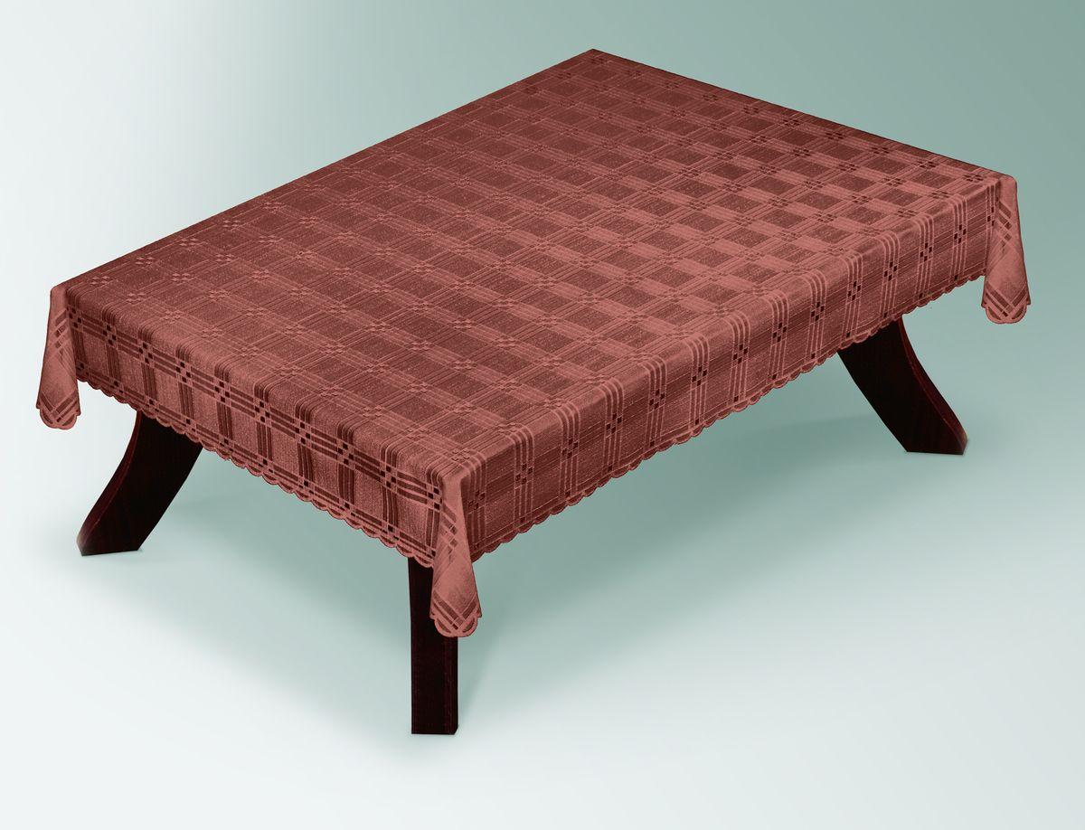 Скатерть Haft Gold Line, прямоугольная, цвет: шоколадный, 100x 150 см. 203490/100203490/100 шоколадВеликолепная прямоугольная скатерть Haft Gold Line, выполненная из полиэстера, органично впишется в интерьер любого помещения, а оригинальный дизайн удовлетворит даже самый изысканный вкус. Скатерть изготовлена из сетчатого материала с ажурным геометрическим рисунком. Края скатерти ажурные.Скатерть Haft Gold Line создаст праздничное настроение и станет прекрасным дополнением интерьера гостиной, кухни или столовой.
