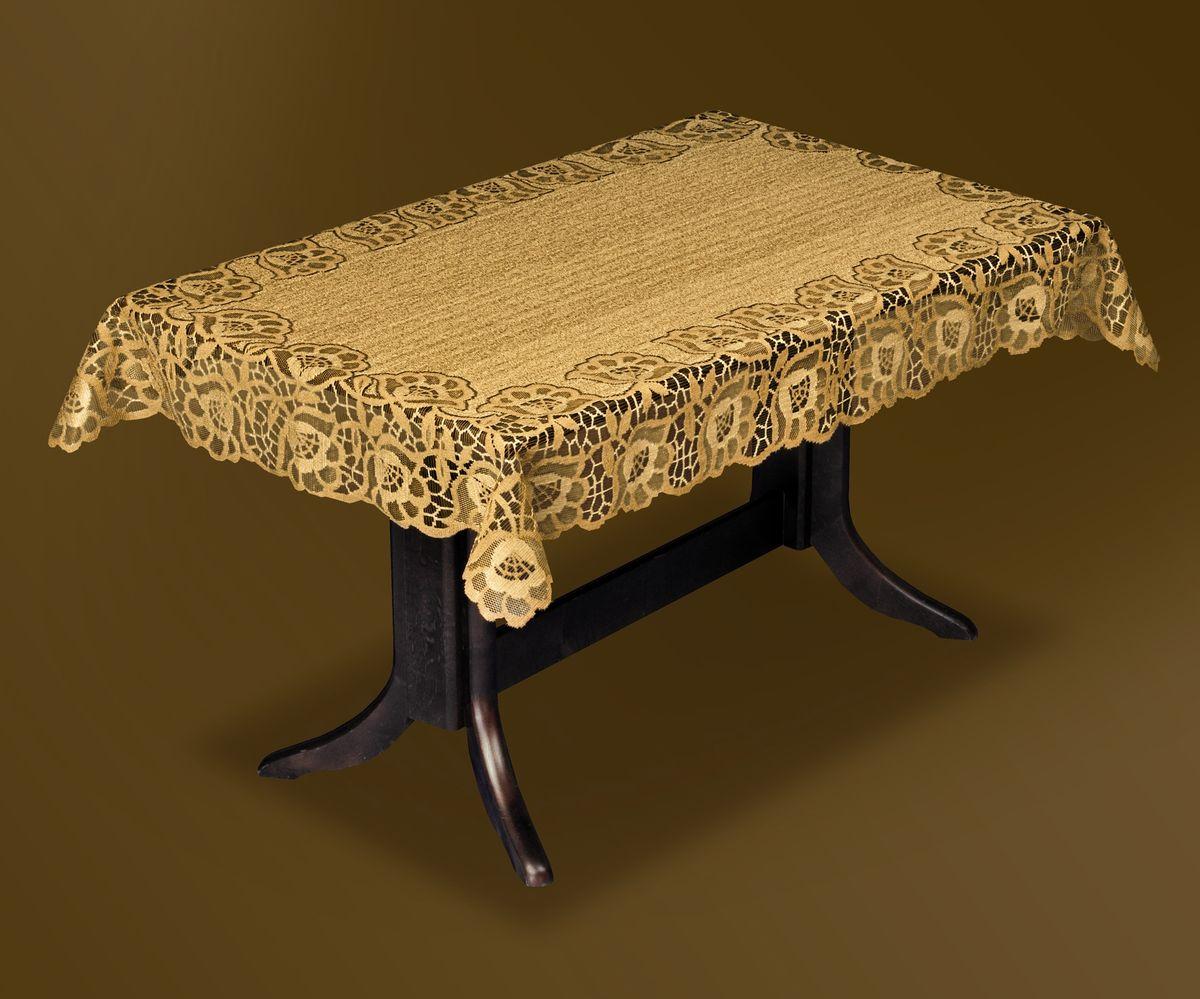Скатерть Haft Gold Line, прямоугольная, цвет: бронзовый, 120x 160 см. 206840-120206840-120 бронзаВеликолепная прямоугольная скатерть Haft Gold Line, выполненная из полиэстера, органично впишется в интерьер любого помещения, а оригинальный дизайн удовлетворит даже самый изысканный вкус. Скатерть изготовлена из сетчатого материала с ажурным цветочным рисунком по краям. Края скатерти ажурные.Скатерть Haft Gold Line создаст праздничное настроение и станет прекрасным дополнением интерьера гостиной, кухни или столовой.