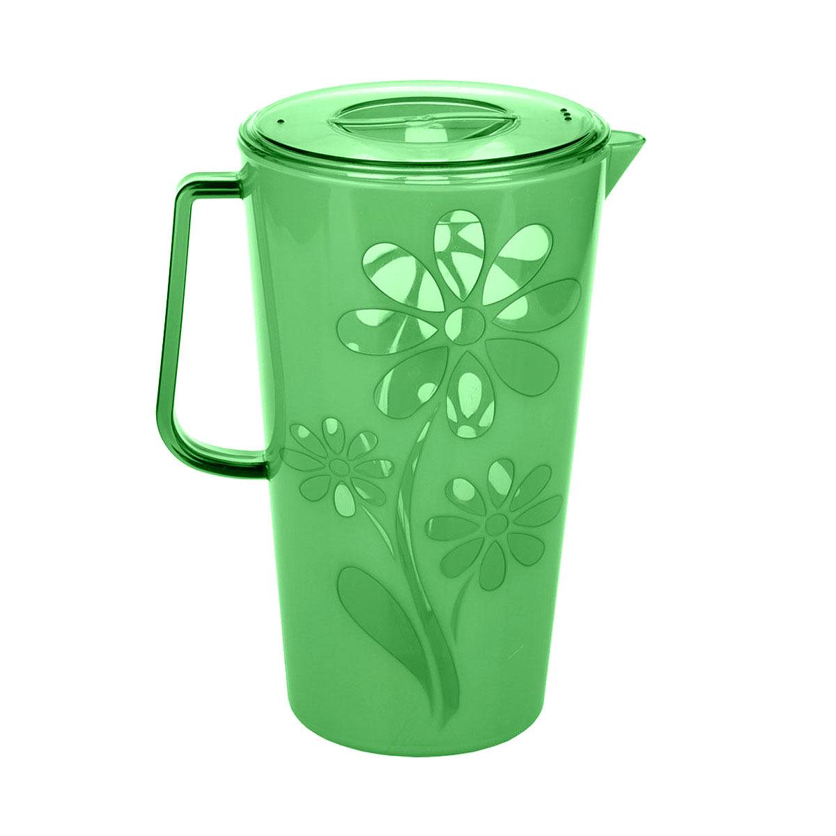 Кувшин Альтернатива Соблазн, цвет: зеленый, 2,5 лM2304Кувшин Альтернатива Соблазн, выполненный из пластика, украсит ваш стол. Кувшин оснащен ручкой и носиком для удобного наливания. Изделие прекрасно подойдет для подачи воды, сока, компота и других напитков.