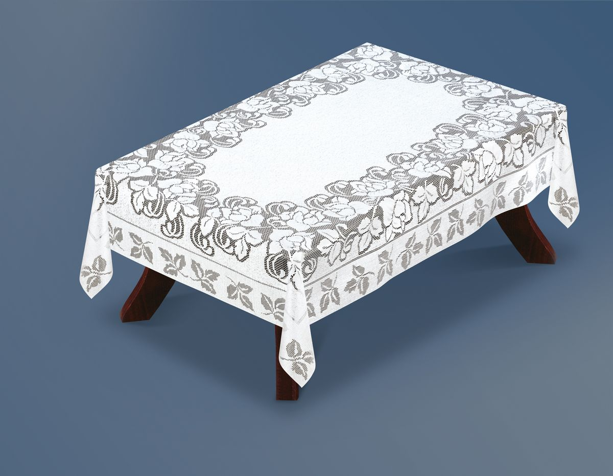 Скатерть Haft Silver Line, прямоугольная, цвет: белый, 180 x 130 см. 221660/130