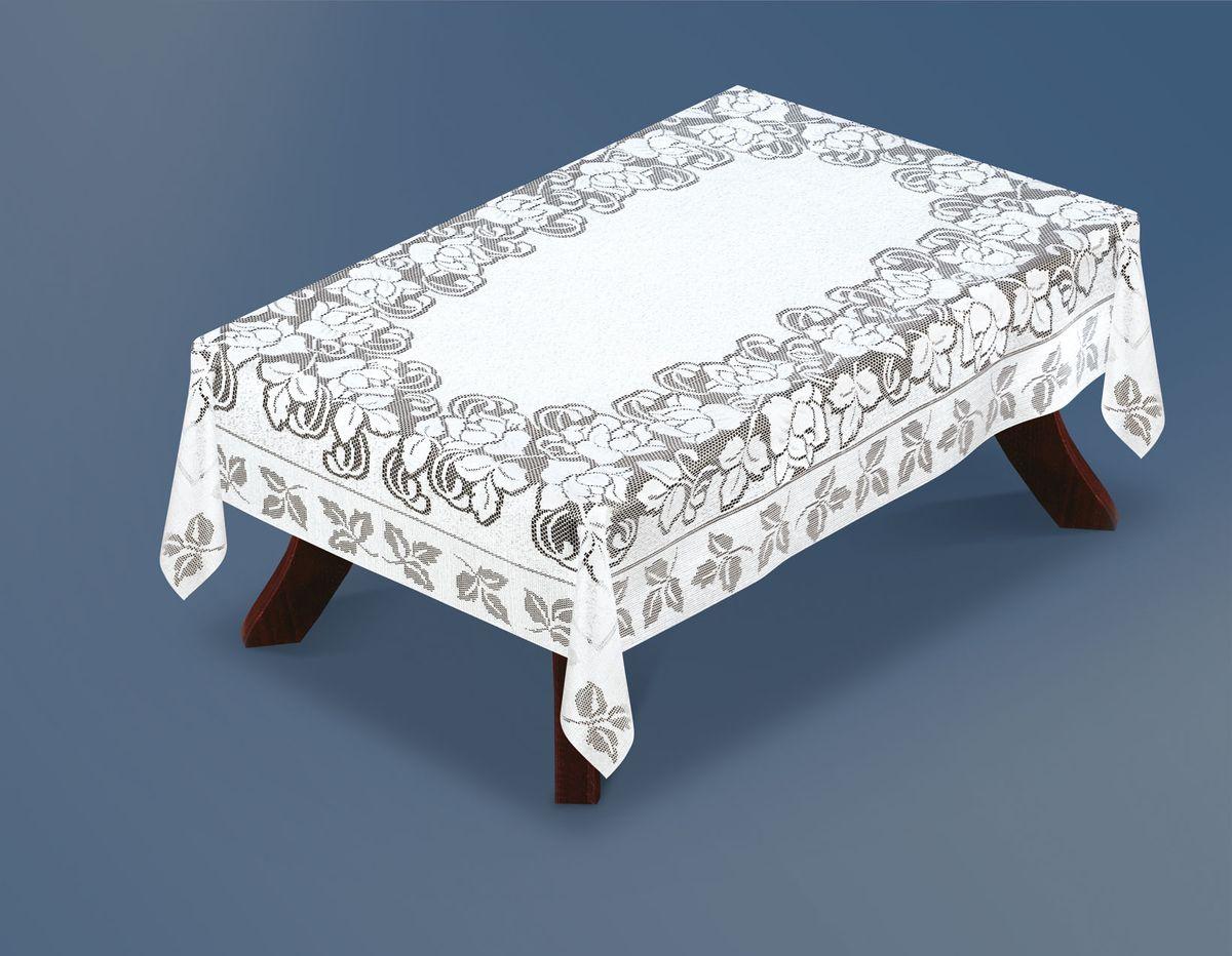 Скатерть Haft Silver Line, прямоугольная, цвет: белый, 220 x 120 см. 221664/120