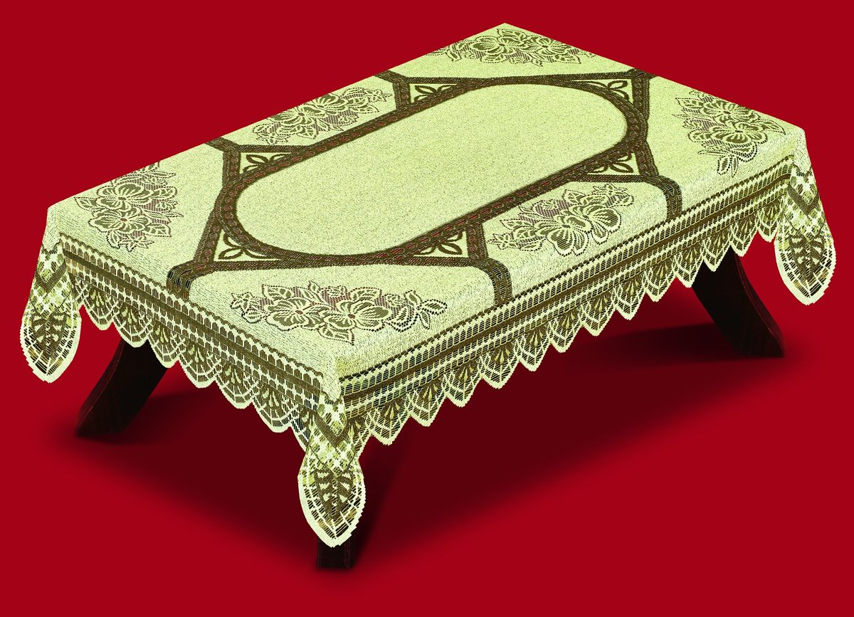 Скатерть Haft, прямоугольная, цвет: светло-оливковый, 100x 150 см. 42250-10042250-100 оливкаВеликолепная прямоугольная скатерть Haft, выполненная из полиэстера, органично впишется в интерьер любого помещения, а оригинальный дизайн удовлетворит даже самый изысканный вкус. Скатерть изготовлена из сетчатого материала с ажурным цветочным орнаментом. Края скатерти ажурные.Скатерть Haft создаст праздничное настроение и станет прекрасным дополнением интерьера гостиной, кухни или столовой.