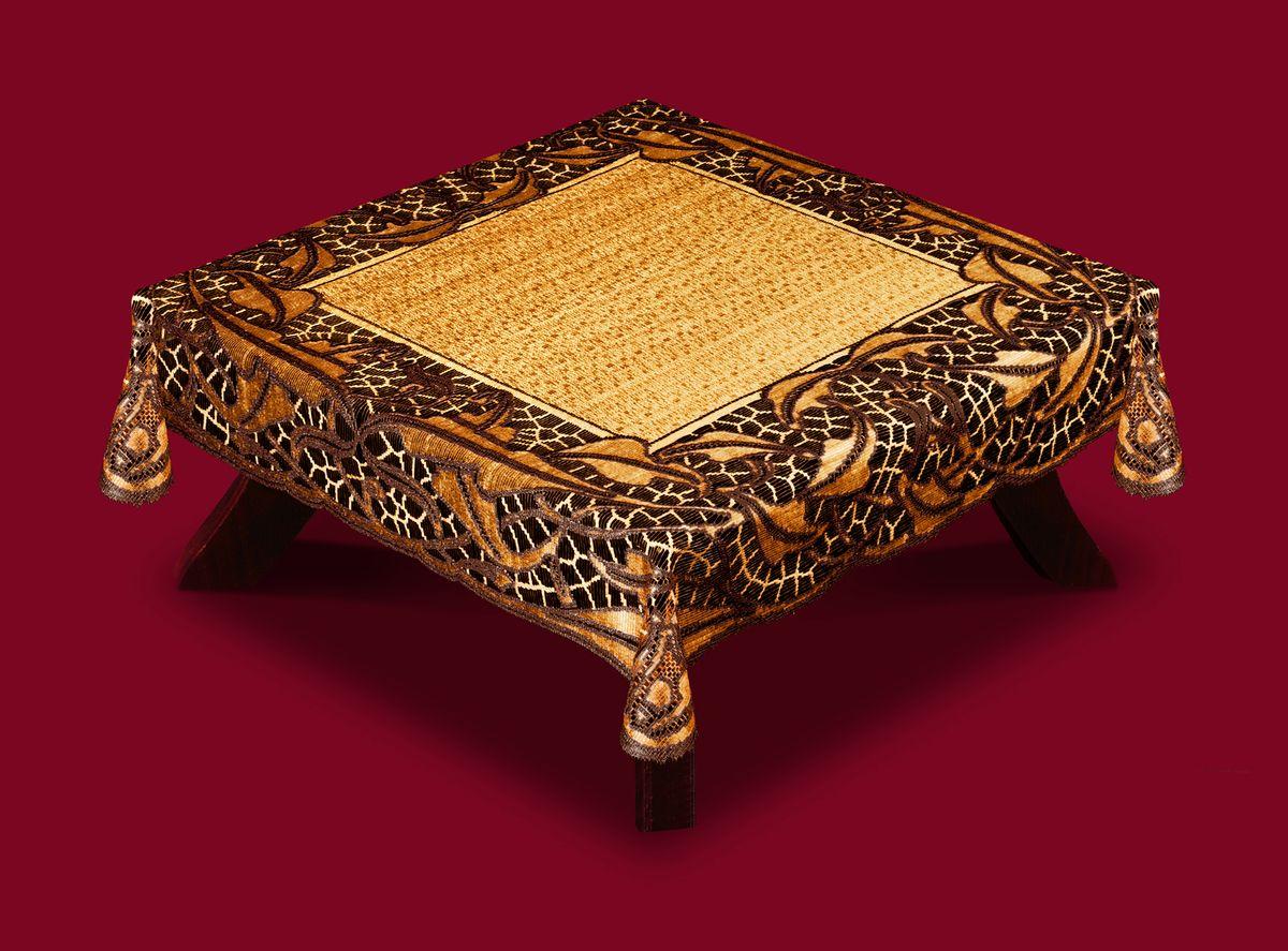 Скатерть Haft, квадратная, цвет: кофейный, коричневый, 100x 100 см. 50912-10050912-100 коричн.Великолепная прямоугольная скатерть Haft, выполненная из полиэстера, органично впишется в интерьер любого помещения, а оригинальный дизайн удовлетворит даже самый изысканный вкус. Скатерть изготовлена из сетчатого материала с ажурным рисунком по краям. Скатерть Haft создаст праздничное настроение и станет прекрасным дополнением интерьера гостиной, кухни или столовой.