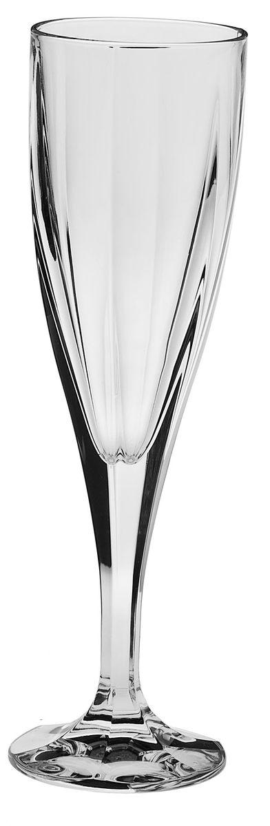 Набор рюмок для шампанского Crystal Bohemia, 180 мл, 6 шт bohemia crystal набор бокалов для шампанского felina 25 см 2 шт