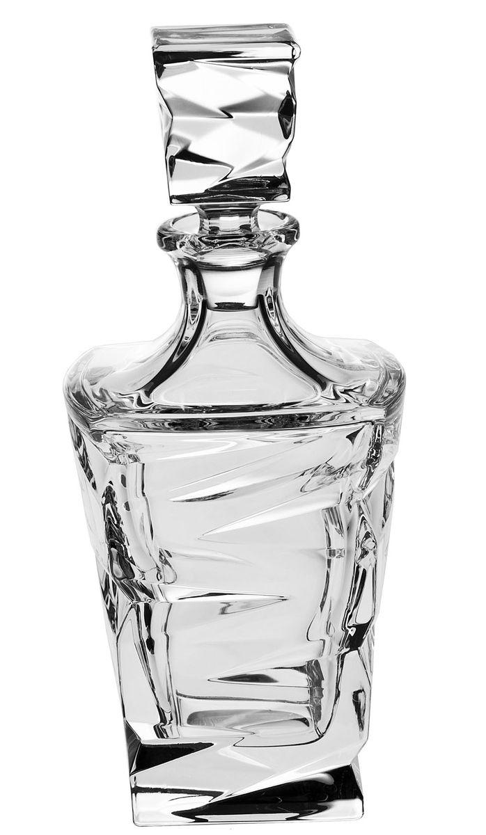 Штоф Crystal Bohemia, 750 мл2936558-голубойШтоф Crystal Bohemia выполнен из прочного высококачественного хрусталя и декорирован рельефом. Он излучает приятный блеск и издает мелодичный звон. Штоф предназначен для хранения и красивой подачи виски и бренди. Он сочетает в себе изысканный дизайн с максимальной функциональностью и прекрасно впишется в интерьер вашей кухни.Штоф не только украсит ваш кухонный стол и подчеркнет прекрасный вкус хозяйки, но и станет отличным подарком.Высота (без пробки): 21 см. Размер основания: 8 см х 8 см.