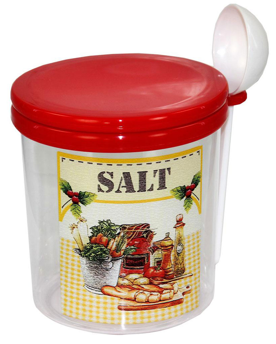 Емкость для соли Альтернатива Ассорти, 0,7 лМ1713Прозрачная емкость Альтернатива Ассорти предназначена для хранения соли. Она выполнена из пластика. На стенке расположен принт, благодаря которому вы сможете понять, что хранится в банке. Оснащена крышкой.