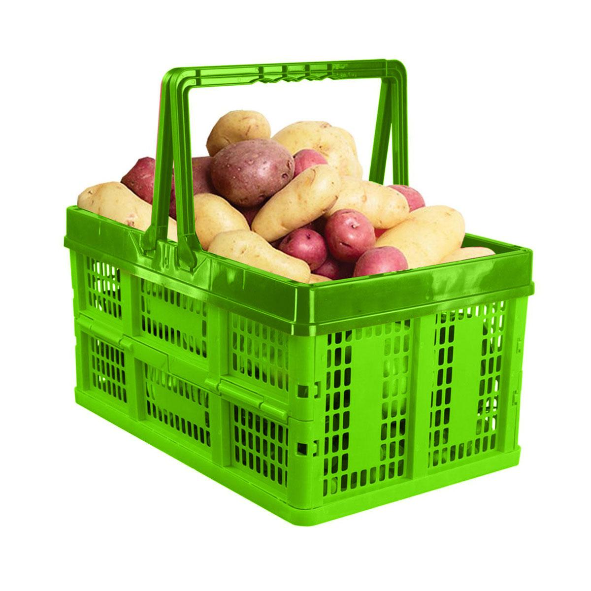 Ящик универсальный Альтернатива, раскладной, цвет: зеленый, салатовый, 38,5 см х 25,5 см х 21 см деревянный ящик ящик покрытия держатель ткани ретро ткань дело для салфеток