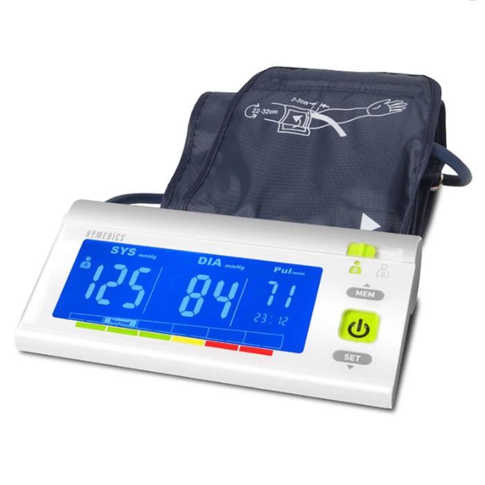 Тонометр Homedics BPA-3000-EUBPA-3000-EU- плечевой автоматический тонометр для измерения артериального давления и пульса высшей категории - легко читаемые показатели благодаря цветной градации ВОЗ(Всемирная Организация Здравохранения) - очень крупный и удобный для чтения ЖК-дисплей с подсветкой - память на 120 измерений для 2х пользователей - для окружности плеча от 22 до 32 см - функцияраспознания аритмии - автоматический механизм прибора с точностью определяет среднее давление и сохраняет его значение в память - работает от 4х батареек типа AAA - время и дата / автоматическое отключение, - гарантия 2 года