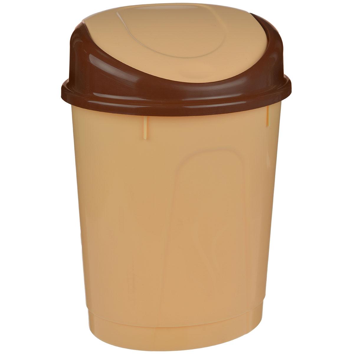 Контейнер для мусора Альтернатива, овальный, цвет: бежевый, 8 л, 24,5 х 21 х 35 смМ1550Контейнер для мусора Альтернатива изготовлен из пластика. Контейнер оснащен удобной крышкой, которая открывается одним движением руки и сама закрывается. Вместительный и компактный контейнер подойдет для дома, дачи, офиса. Размер контейнера: 24,5 см х 21 см х 35 см. Высота крышки: 7 см.
