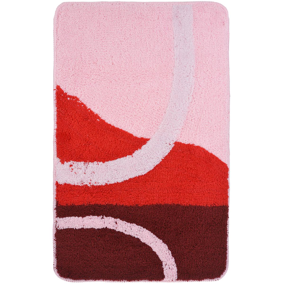 Коврик для ванной комнаты Fresh Code, цвет: розовый, 80 х 50 см54930Коврик для ванной Fresh Code изготовлен из 100% акрила с латексной основой. Коврик, украшенный ярким цветным рисунком, создаст уют и комфорт в ванной комнате. Длинный ворс мягко соприкасается с кожей стоп, вызывая только приятные ощущения. Рекомендации по уходу: - стирать в ручном режиме, - не использовать отбеливатели, - не гладить,- не подходит для сухой чистки (химчистки).