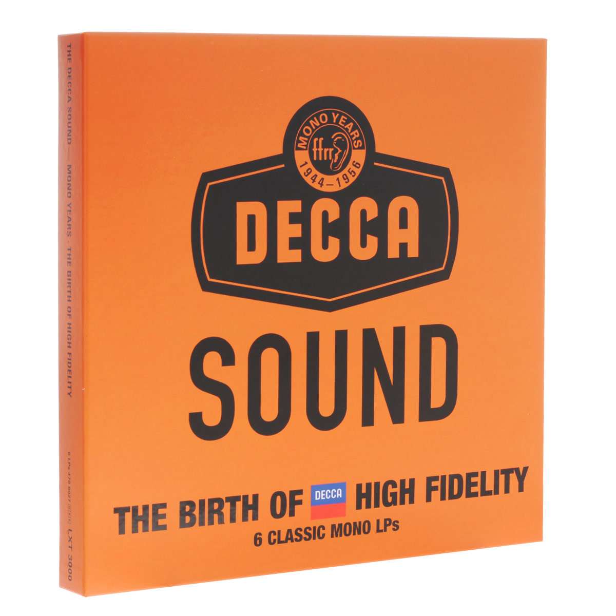 This limited-edition LP set features six outstanding recordings from Decca's earliest high fidelity history, celebrating the technological breakthroughs that brought full-frequency range recording (ffrr) and high fidelity to the world 70 years ago. The recordings in this set, including Decca's first LP (Ansermet's 1949 recording of Petrouchka), have been selected from a collection of celebrated recordings in the 53-CD set of THE DECCA SOUND - MONO YEARS. Newly presented in luxury 180gm vinyl pressings, the set includes a newly written booklet detailing the history behind the Decca Sound from this period. Limited-Edition, Numbered LP Set with a detailed booklet. Original LP front and back covers.
