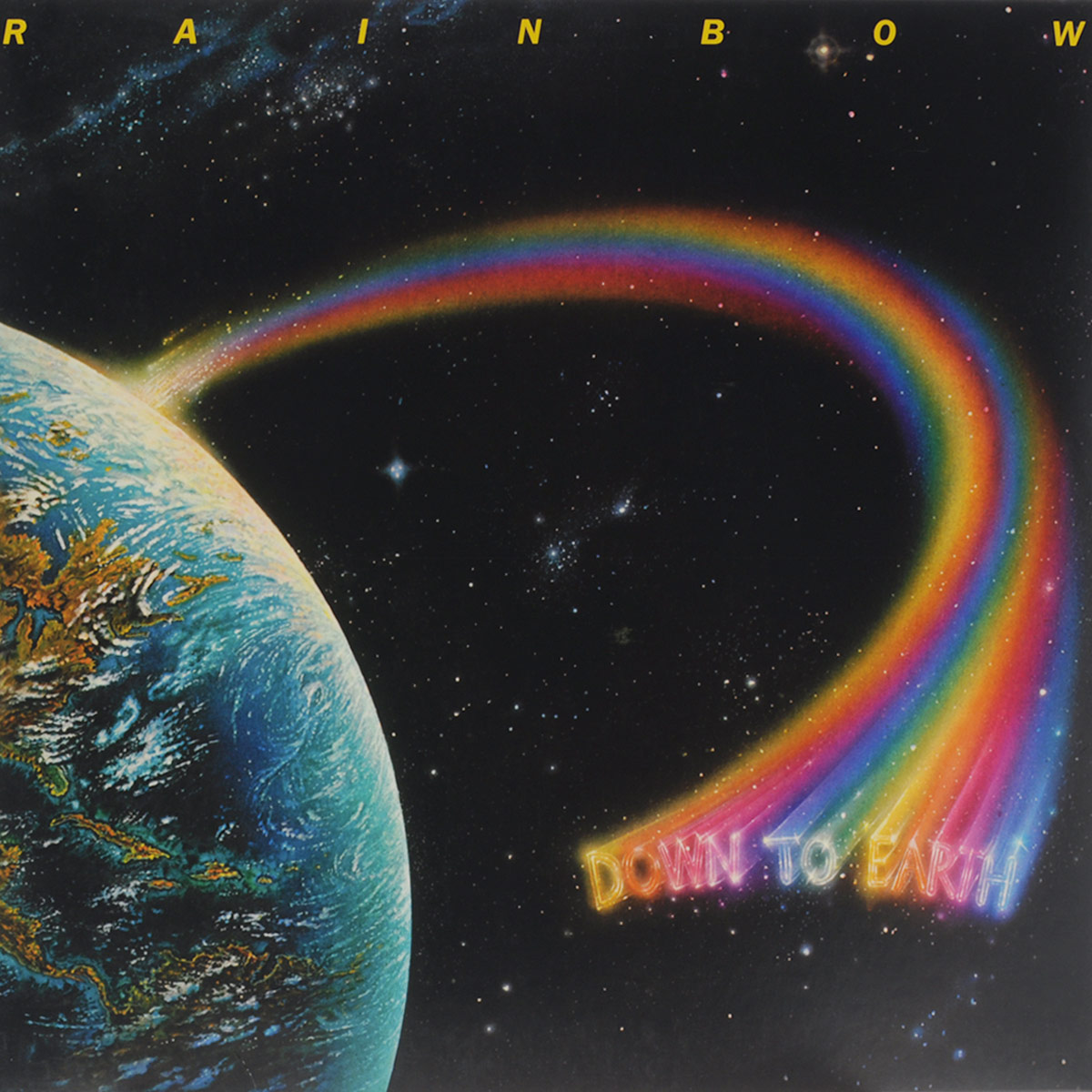 Rainbow Rainbow. Down To Earth (LP) roogo 1 rainbow gnome l031 diy r001