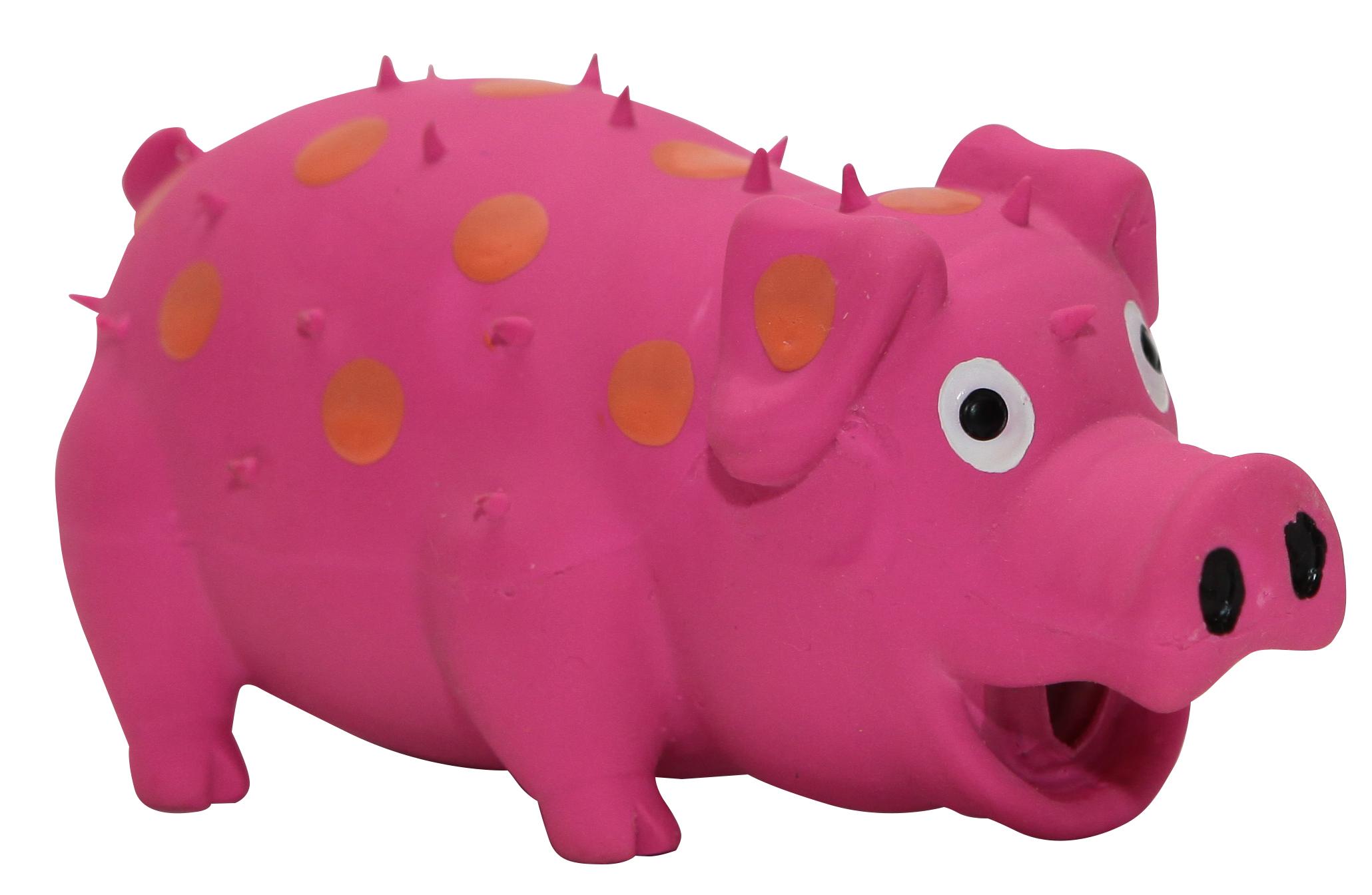 Игрушка для собак Ziver Свинья, цвет: розовый, длина 14,5 см игрушка для собак ziver осел длинноухий с пищалкой цвет голубой 18 см
