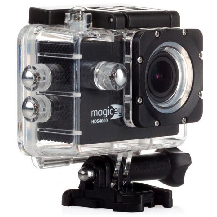 Gmini MagicEye HDS4000, Black экшн-камераАК-10000001Портативная экшн-камера Gmini MagicEye HDS4000. Разрешение видео-файла FullHD 1080p:Видео-файлы могут быть просмотрены практически любым видеоплеером. Имеется режим HDR для лучшей проработки изображения в тенях.Циклическая запись:Установка длительности записываемого фрагмента и перезапись старых файлов при переполнении памяти. Это позволит вам быть уверенным, что все последние события будут сохранены.Звук:Встроенные динамик и микрофон. Позволит вам записать, а затем прослушать звук на видеозаписи.Объектив:Широкоугольный объектив с углом обзора 170 градусов. Позволит записать в память практически всё, что видит пользователь камеры во время съемки.Автостарт:Автоматическое включение/выключение и старт записи при подаче/отключении питания. Позволяет использовать экшн-камеру в качестве видеорегистратора в автомобиле.Wi-Fi:Удаленной управление по WiFi съемкой с данной камеры, с помощью смартфона или планшетного компьютера на операционной системе iOS или Android.Экран:1.5 LCD дисплей для просмотра записанных фрагментов и настроек. Избавит от необходимости иметь дополнительное устройство для просмотра видео. Поможет при настройке положения вашей экшн-камеры.Питание:Сменный аккумулятор емкостью 900 мАч, позволяющий вести до 70 минут непрерывной записи. Второй дополнительный аккумулятор в комплекте.Процессор/сенсор: Siri A9, Aptina AR0330Как выбрать экшн-камеру. Статья OZON Гид