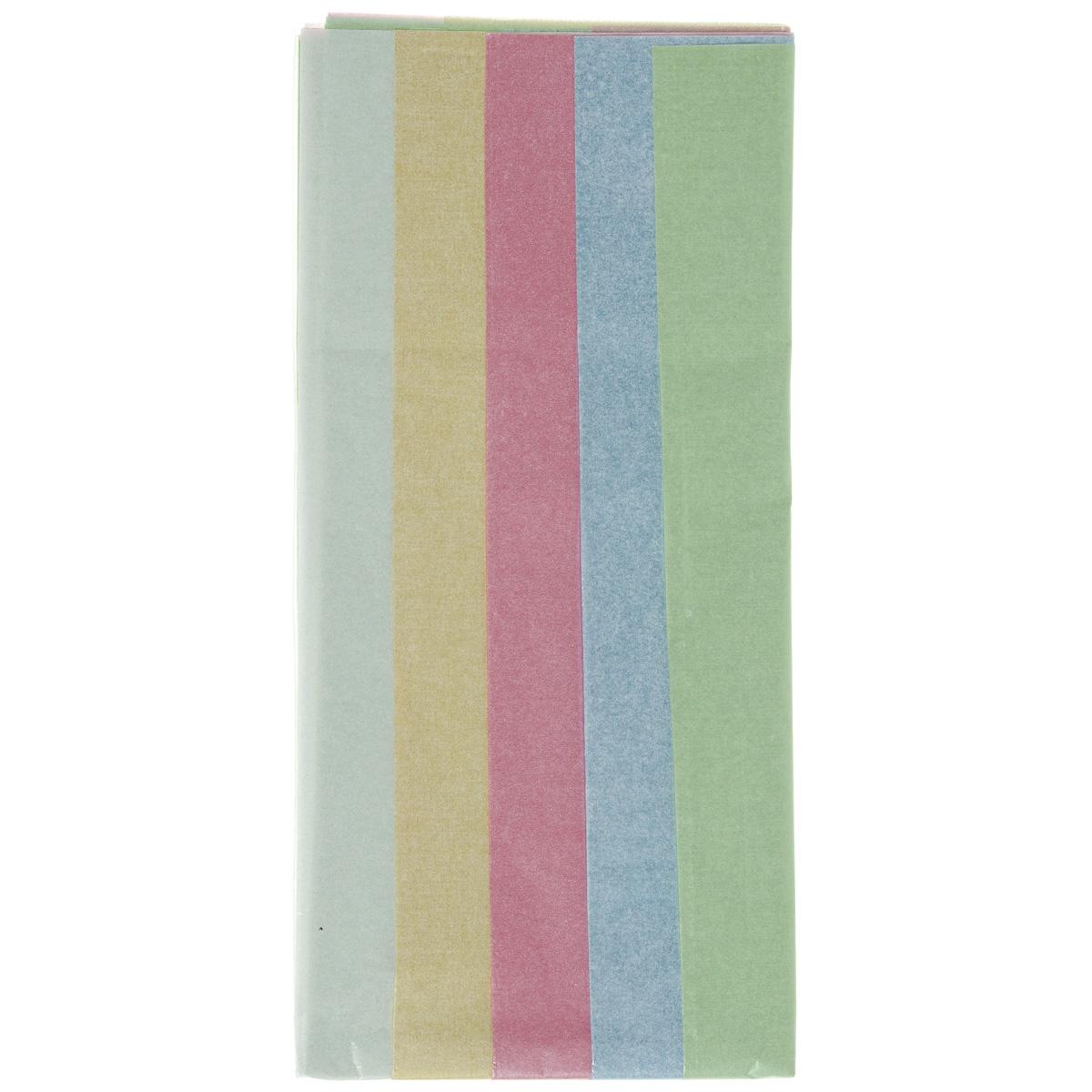 Бумага папиросная Folia, 50 см х 70 см, 5 листов. 7708133 бумага папиросная folia 50 см х 70 см 10 листов 7708130