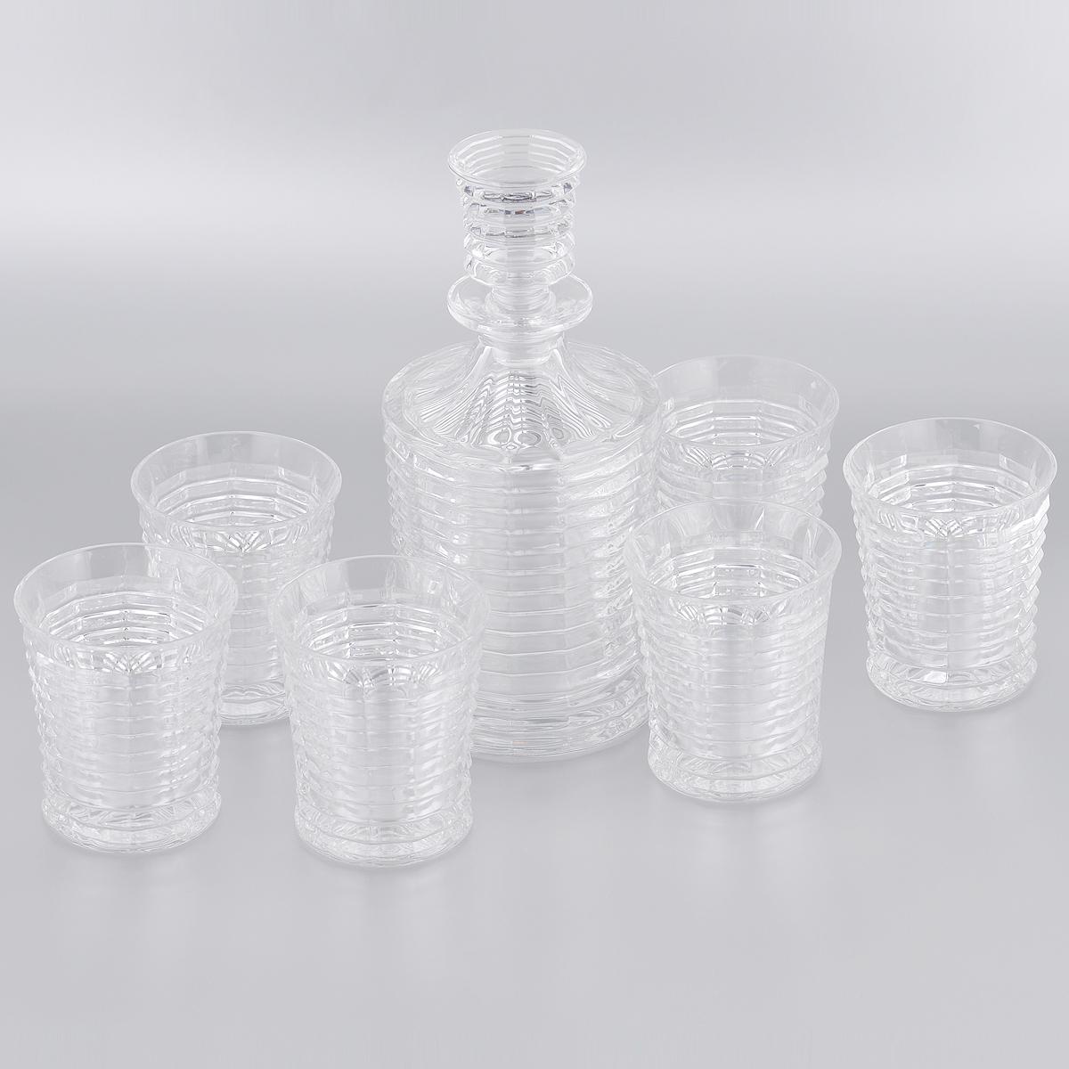 Набор для виски Crystal Bohemia, 7 предметов. 990/99999/9/47600/792-709990/99999/9/47600/792-709Набор Crystal Bohemia состоит из штофа и шести стаканов. Изделия выполнены из хрусталя. Предметы набора декорированы рельефным рисунком. Они излучают приятный блеск и издают мелодичный звон. Набор предназначен для виски. Набор для виски Crystal Bohemia прекрасно оформит интерьер кабинета или гостиной и станет отличным дополнением бара. Такой набор также станет хорошим подарком к любому случаю. Количество стаканов: 6 шт.Диаметр стакана (по верхнему краю): 8,5 см. Высота стакана: 10 см. Объем стакана: 300 мл. Высота штофа (с пробкой): 25,5 см. Объем штофа: 700 мл.