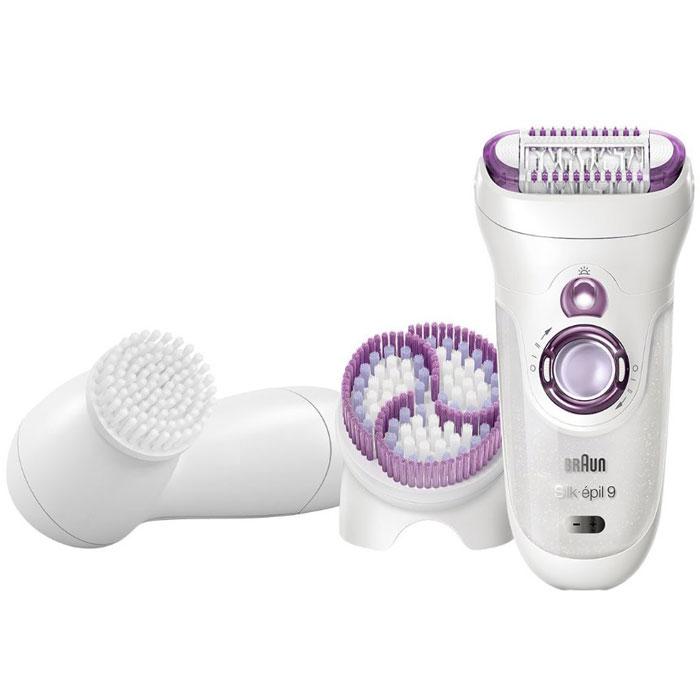 Braun Silk-epil 9-969 Wet & Dry эпилятор + прибор для очищения лица