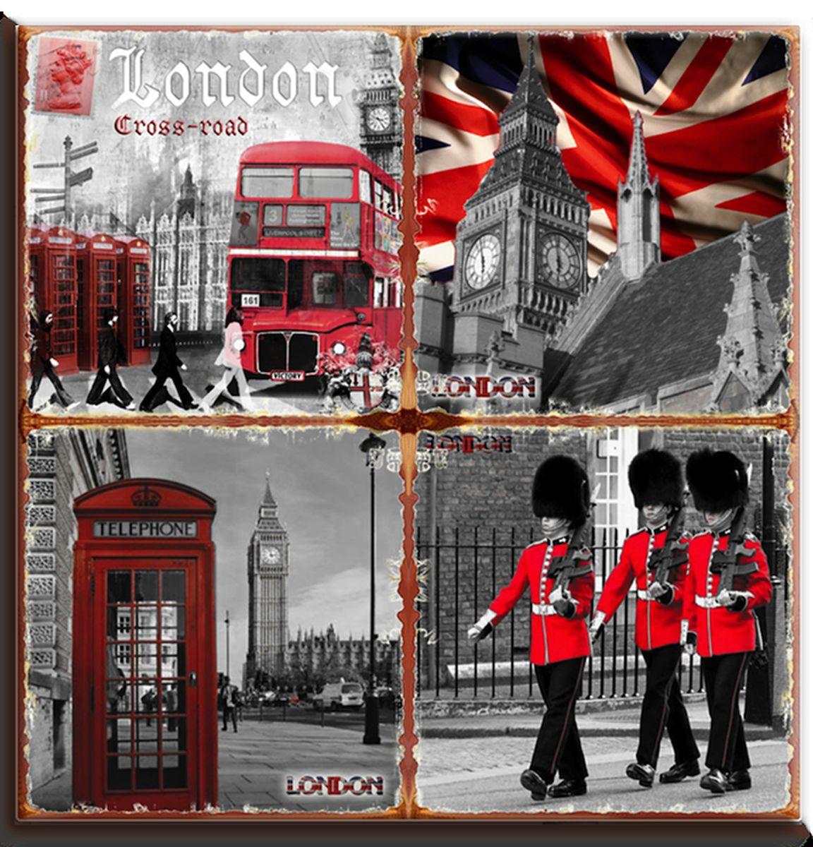 Подставка под горячее GiftnHome Лондон в красных тонах, 20 см х 20 смP20-London RedКвадратная подставка под горячее GiftnHome Лондон в красных тонах выполнена из высококачественной керамики. Изделие, декорированное красочными изображениями достопримечательностей Лондона, идеально впишется в интерьер современной кухни. Специальное пробковое основание подставки защитит вашу мебель от царапин. Изделие не боится высоких температур и легко чиститься от пятен и жира.Каждая хозяйка знает, что подставка под горячее - это незаменимый и очень полезный аксессуар на каждой кухне. Ваш стол будет не только украшен оригинальной подставкой с красивым рисунком, но и сбережен от воздействия высоких температур ваших кулинарных шедевров. Нельзя мыть в посудомоечной машине.Размер подставки: 20 см х 20 см х 0,8 см.