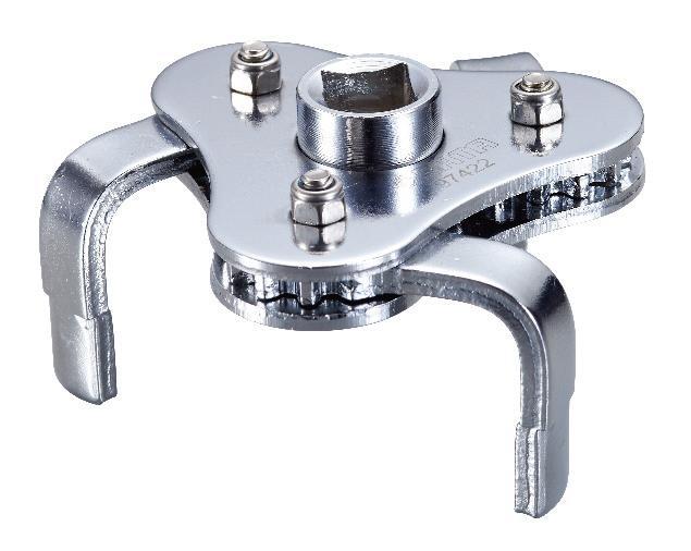 Съемник масляного фильтра SATA 63-102 мм97422Ключ двухстороннего действия Sata предназначен для работы с масляными фильтрами. Под ключ 1/2 и 3/8. Съемник выполнен из высококачественной стали. Под ключ 1/2 и 3/8. Захват: 63-102 мм.