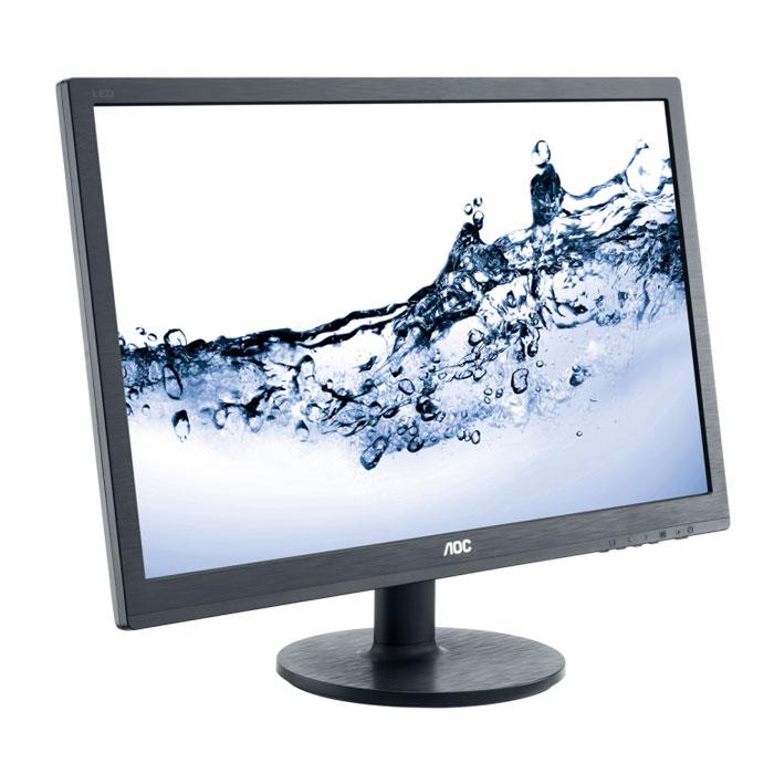 AOC e2460Sh, Black мониторe2460ShДисплей AOC e2460Sh с диагональю 24 дюйма разработан с учетом высокой производительности. Сверхмалое время отклика 1 мс для смены оттенков – это идеальный выбор для истинных любителей игр,а также для тех, кто работает с графикой, анимацией и видеоредакторами. Благодаря разрешению Full HD 1920x1080 от вас не ускользнут даже мельчайшие детали, а впечатляющая динамическая контрастность 20M:1 обеспечивает передачу четкого изображения с насыщенными оттенками черного. Встроенные динамики мощностью 2 Вт передают кристально чистый звук при просмотре фильмов, прослушивании музыки или во время видеозвонков. Подставка позволяет легко наклонить экран в удобное положение, а крепление VESA служит для монтажа на стену. Разъемы VGA, DVI и HDMI позволяют легко подключить несколько компьютеров и периферийных устройств. Благодаря интеллектуальным функция экономии энергии, таким как подсветка W-LED, этот монитор получил сертификат EPEAT Gold.