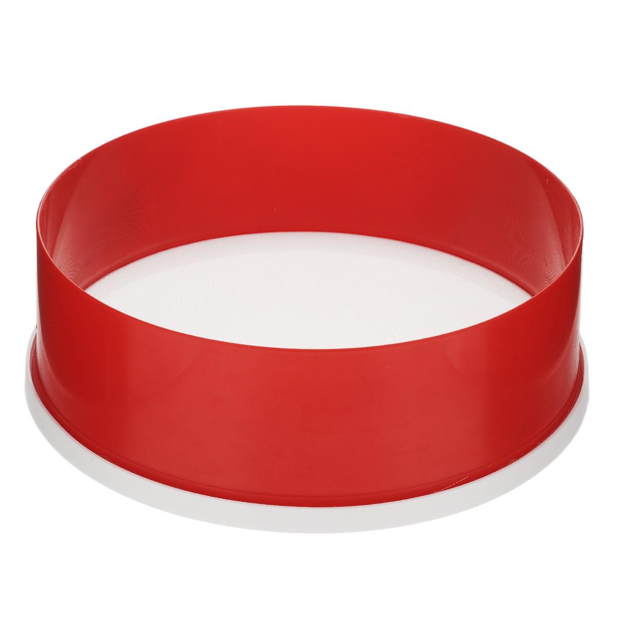Сито Альтернатива, цвет: красный, белый, диаметр 22 смM071Сито Альтернатива выполнено из высококачественного пластика. Сито предназначено для просеивания муки,процеживания и промывания продуктов. Прочная сетка и корпус обеспечивают изделию износостойкость идолговечность. Такое сито станет достойным дополнением к кухонному инвентарю. Диаметр: 22 см. Высота стенок: 7,5 см.