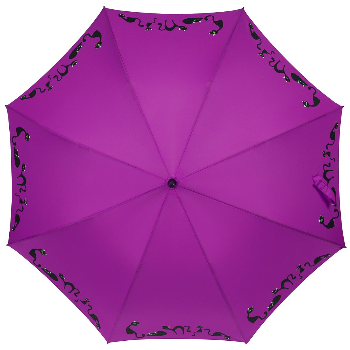 Зонт-трость женский Zest, полуавтомат, цвет: фиолетовый. 21629-1023